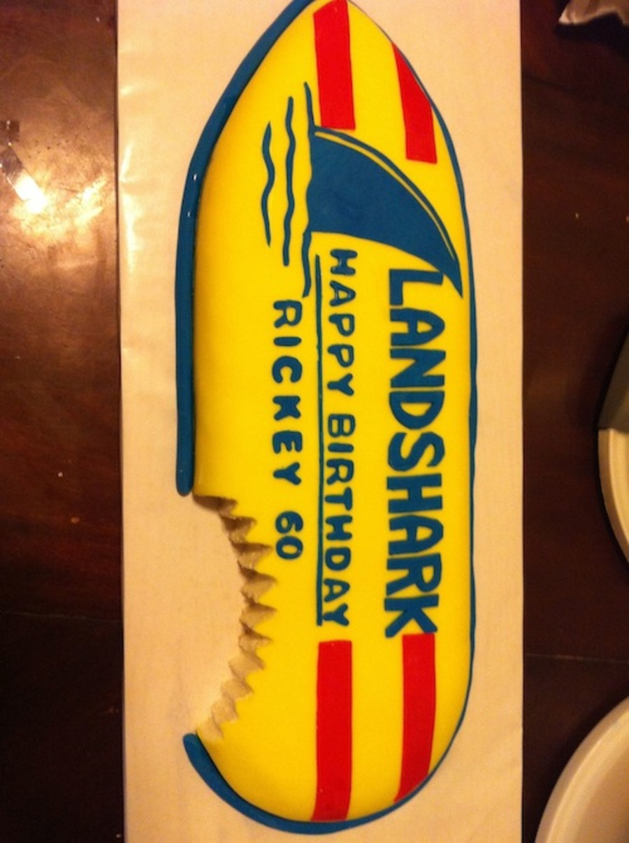 Landshark Birthday Cake  on Cake Central