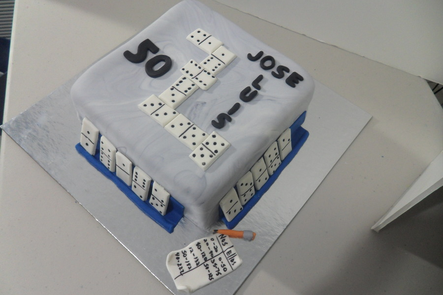 Domino Table on Cake Central