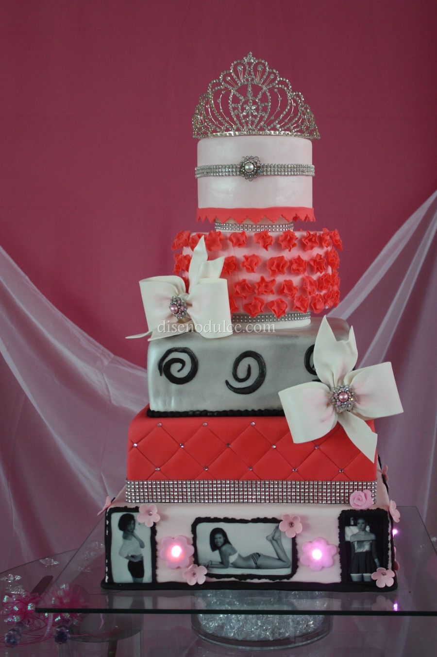 Light Pink And Coral on Cake Central