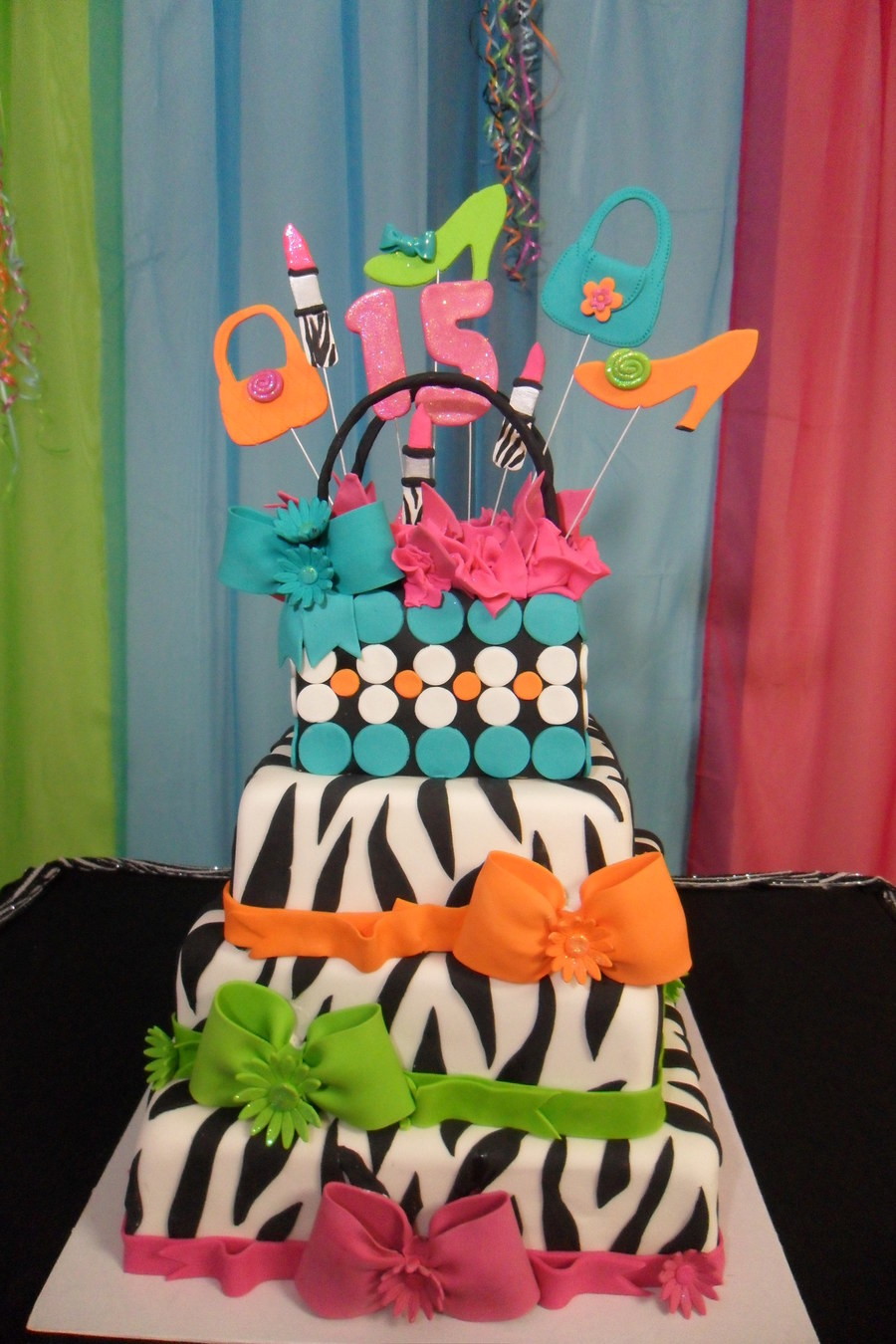 Zebra Fashion on Cake Central