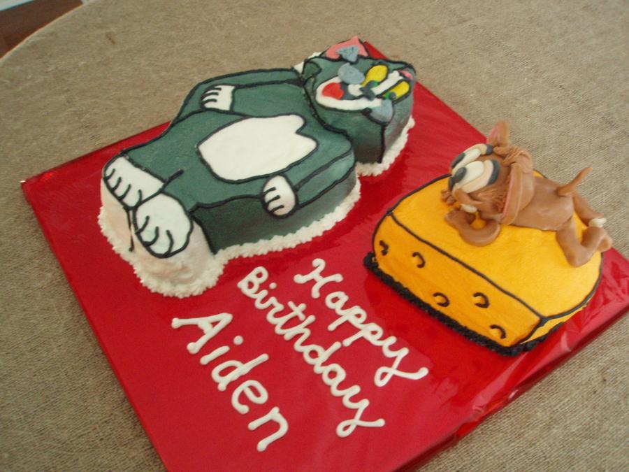 Tom Jerry Cake CakeCentralcom