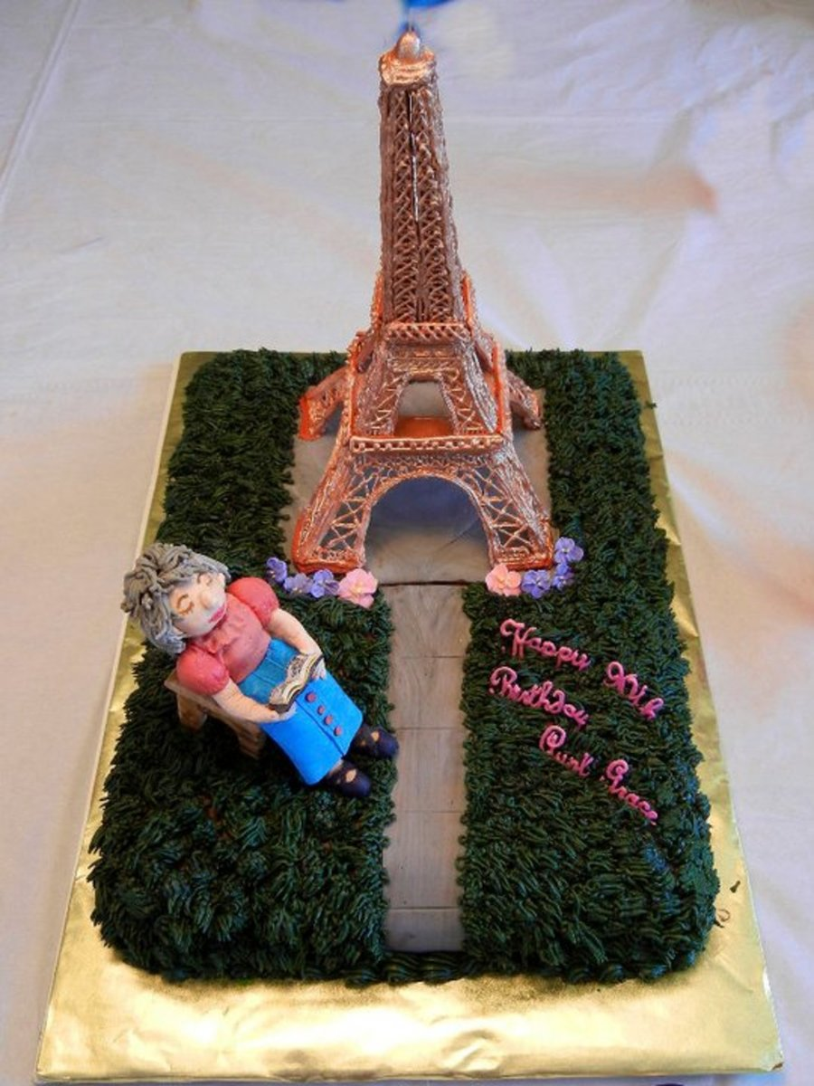 Birthday Cake With Eiffel Tower Cakecentral