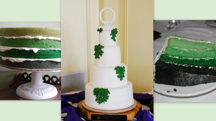 St. Patrick's Day Inside Ombre Wedding on Cake Central