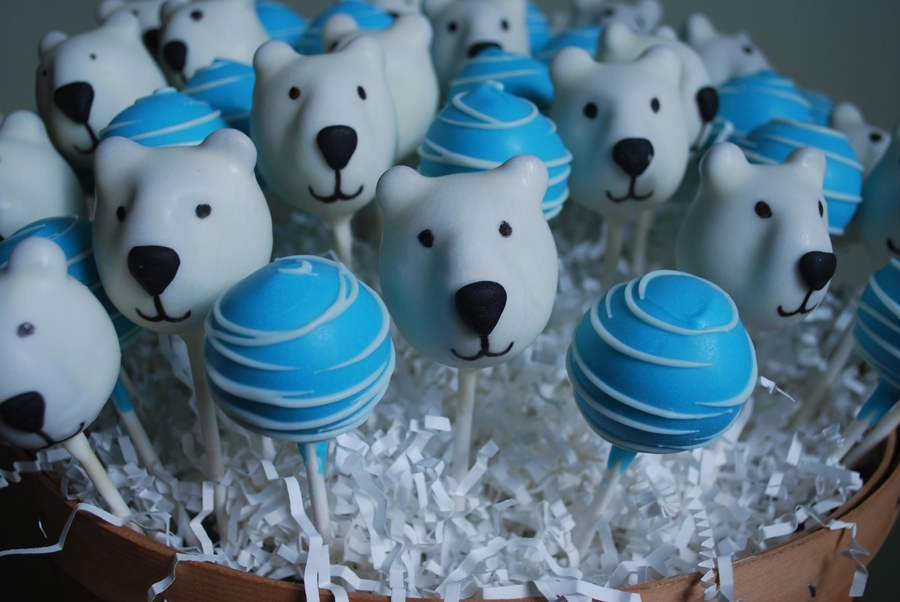 Polar Bear Cake Pops on Cake Central