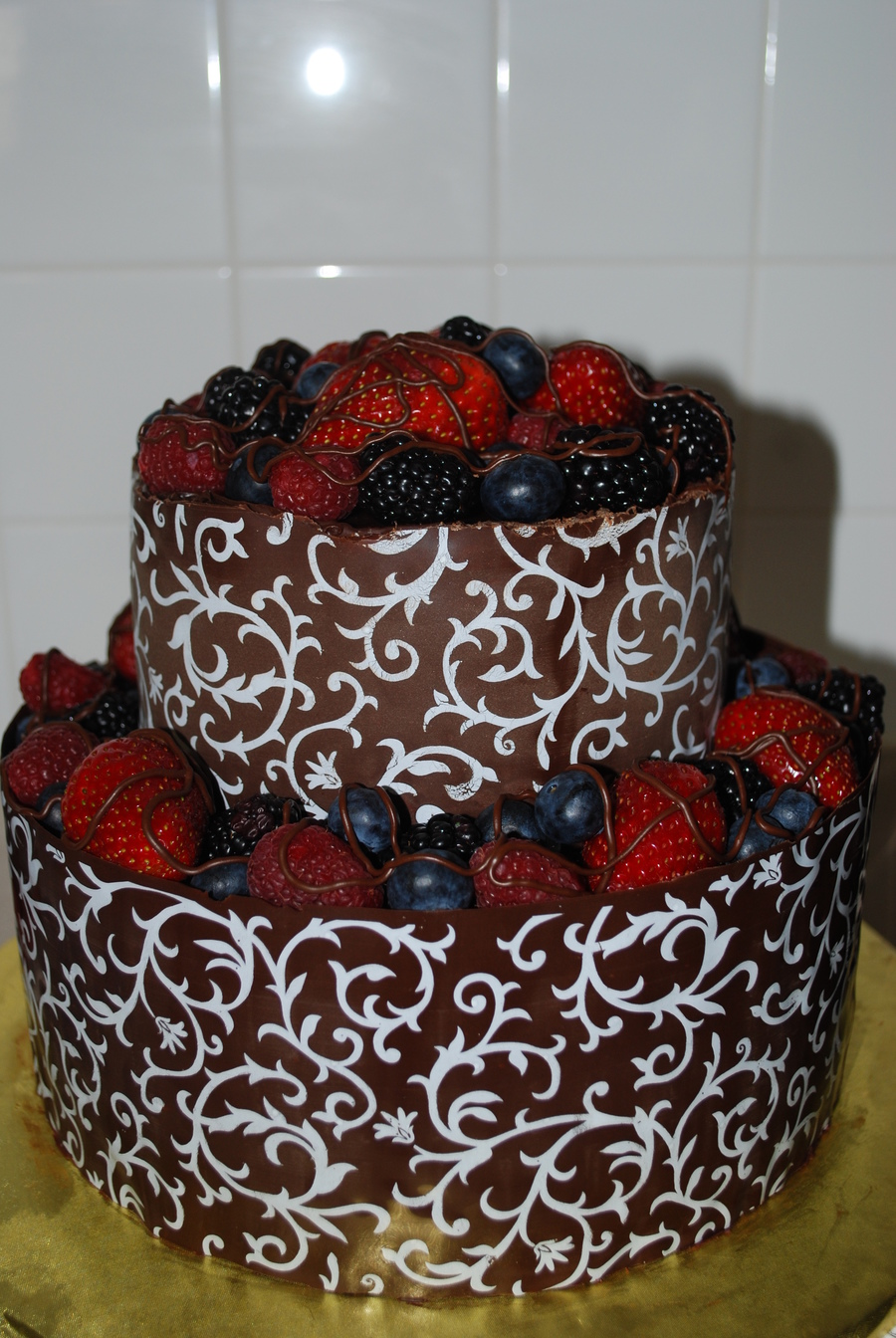 Chocolate Wrap Cake on Cake Central