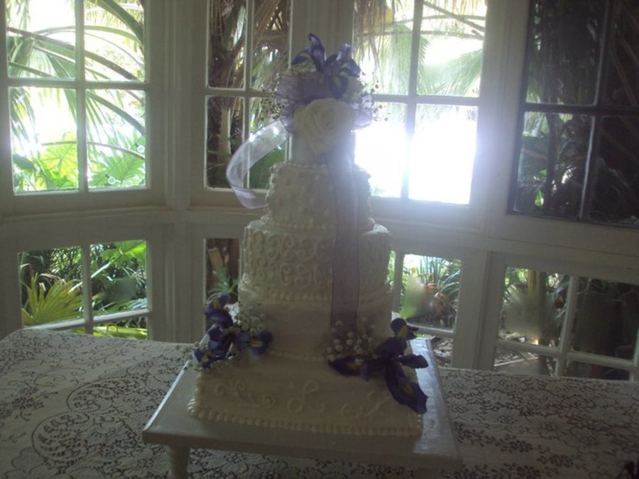 Iris Wedding Cake on Cake Central