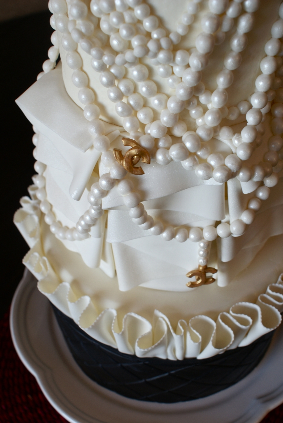 Chanel Inspired Birthday Cake - CakeCentral.com