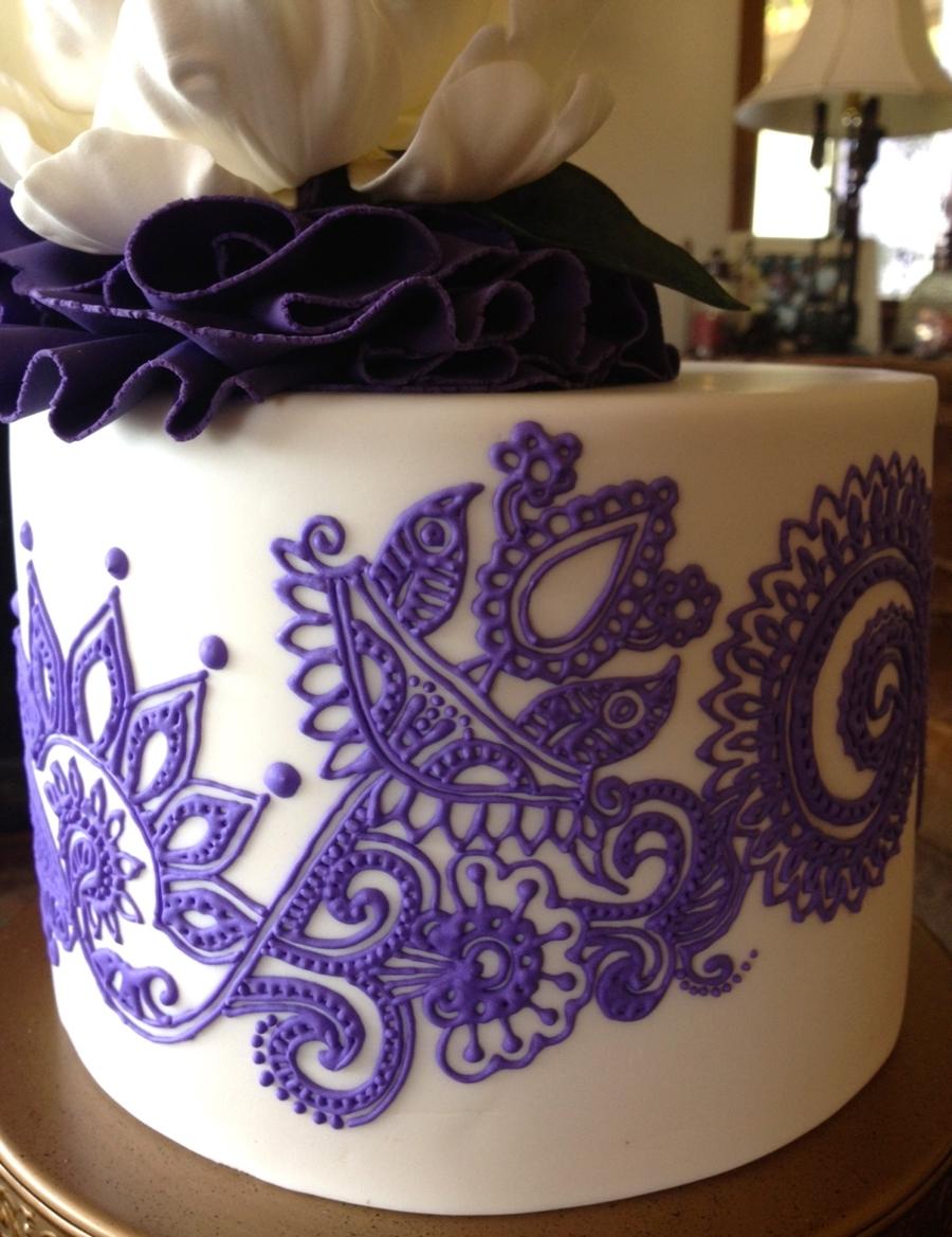 Mehndi Inspired Cake : Henna inspired birthday cake cakecentral
