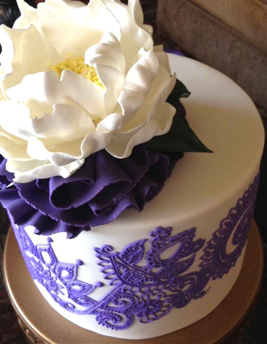 Henna Inspired Birthday Cake Cakecentral Com