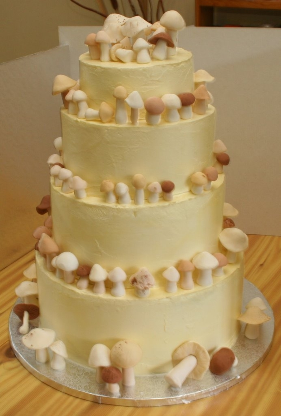 Mushroom Wedding Cake on Cake Central