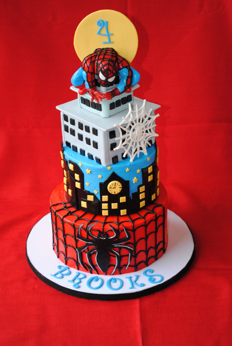 Black spiderman cakes - photo#16
