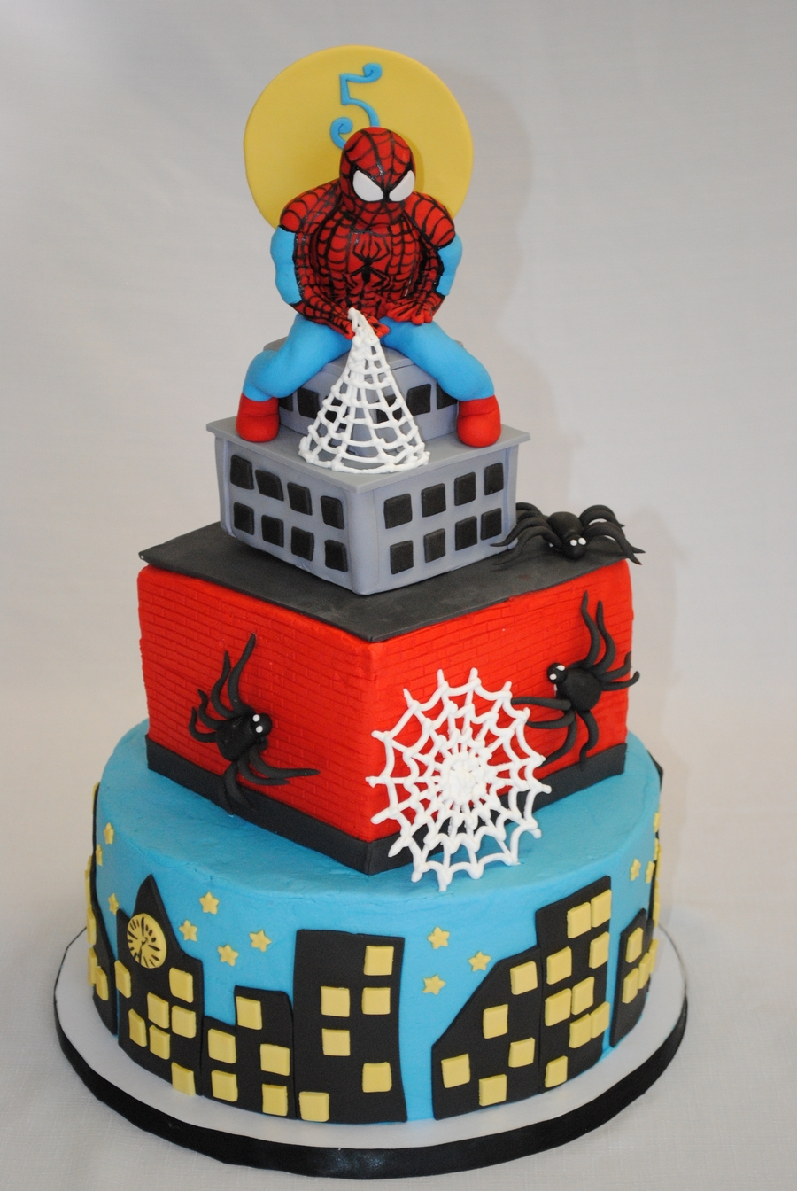 Fabulous Spiderman Birthday Cake Cakecentral Com Personalised Birthday Cards Beptaeletsinfo