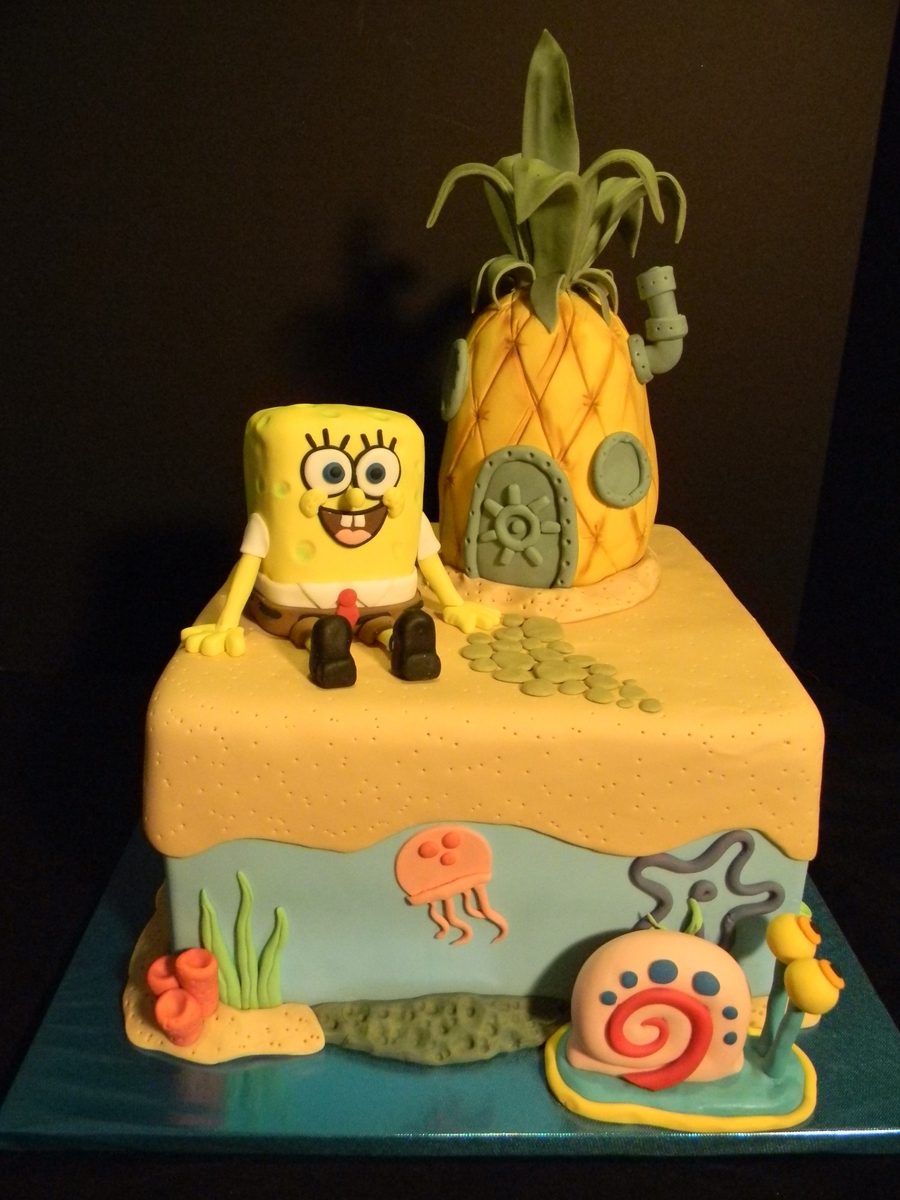 Sponge Bob & His Pineapple House on Cake Central
