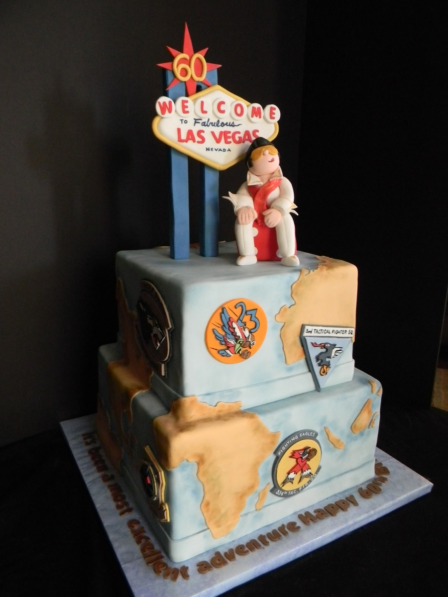 Viva Las Vegas Air Force Cake