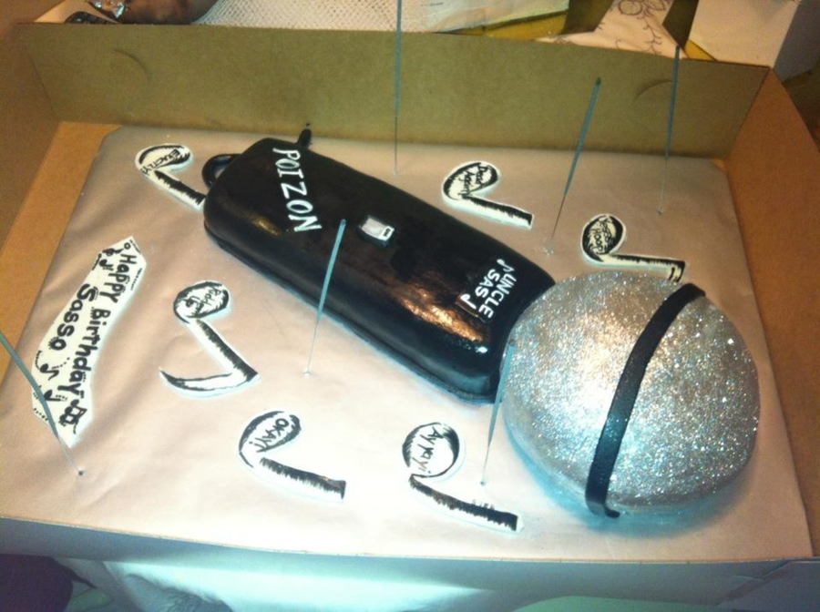 Microphone Cake on Cake Central
