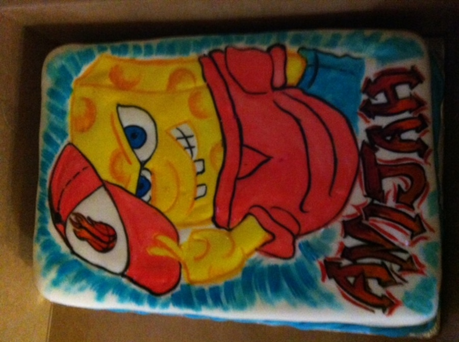 gangster spongebob cakecentral com