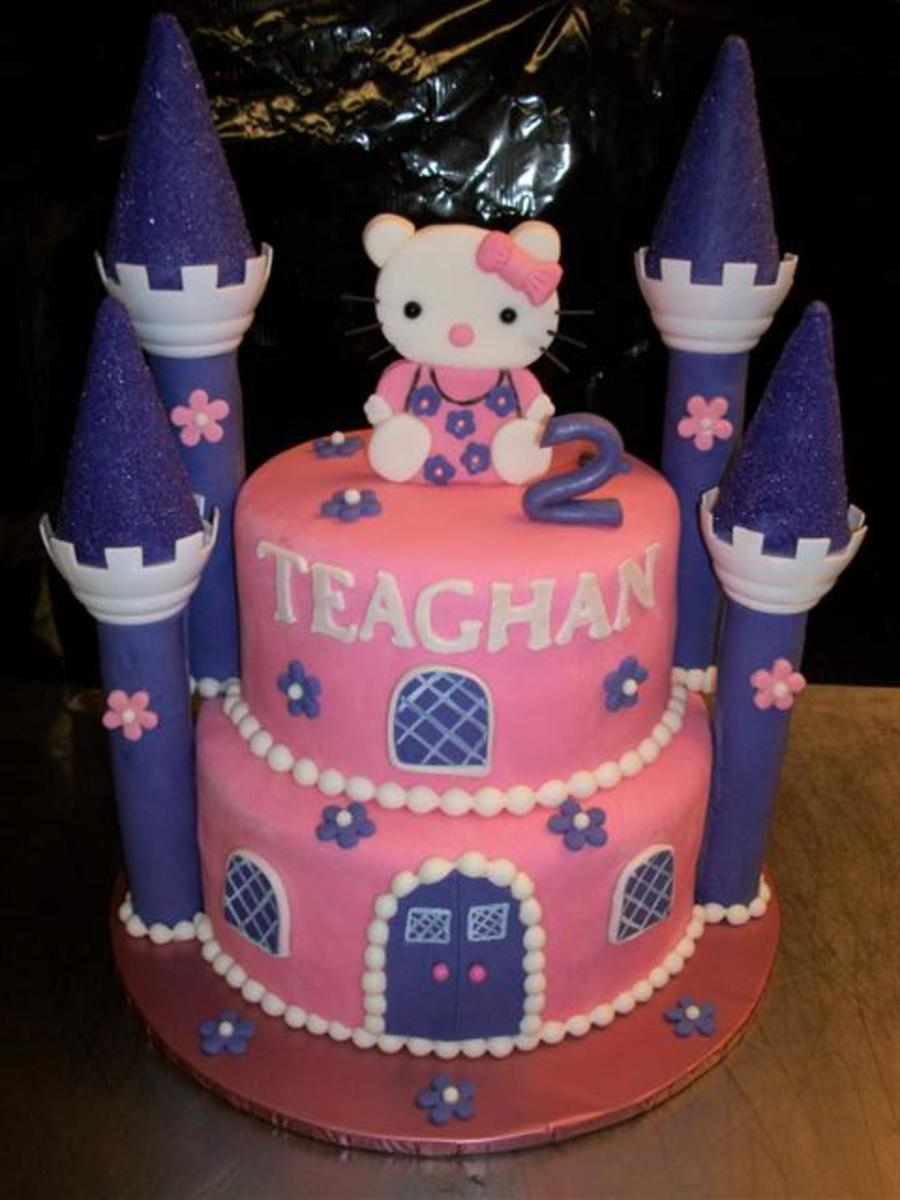 Birthday Cake For 2 Yr Old All Hand Made Fondant Details Including Hello Kitty on Cake Central
