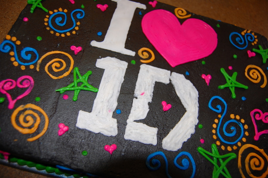 Surprising Birthday Cake For A One Direction Fans Glow Party Wish I Had Made Personalised Birthday Cards Petedlily Jamesorg