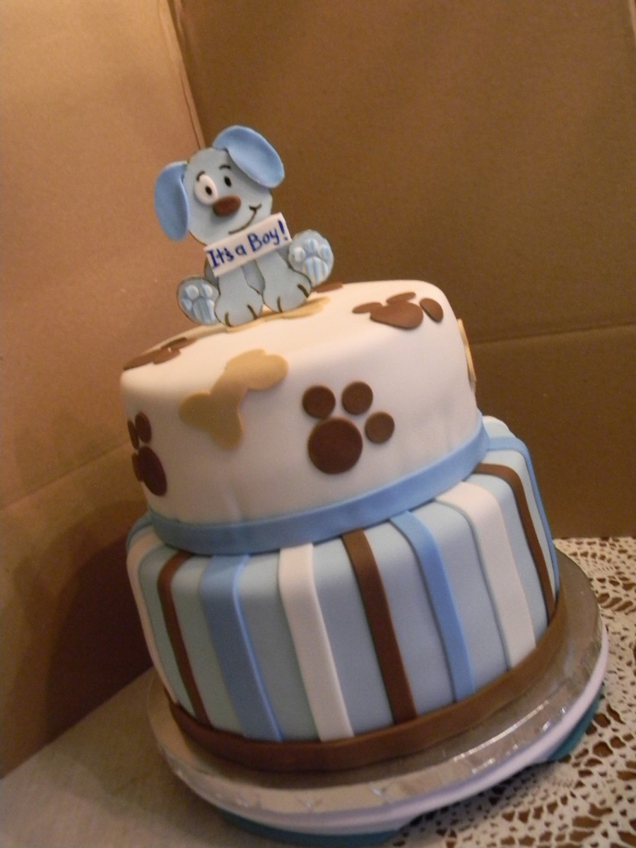Puppy Theme Baby Shower Cakecentral Com
