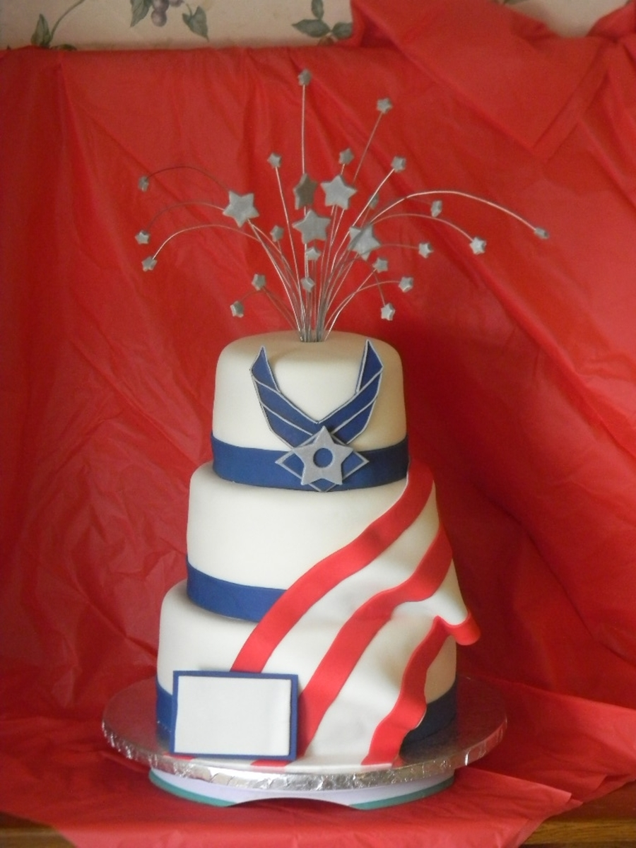 Air Force Retirement on Cake Central