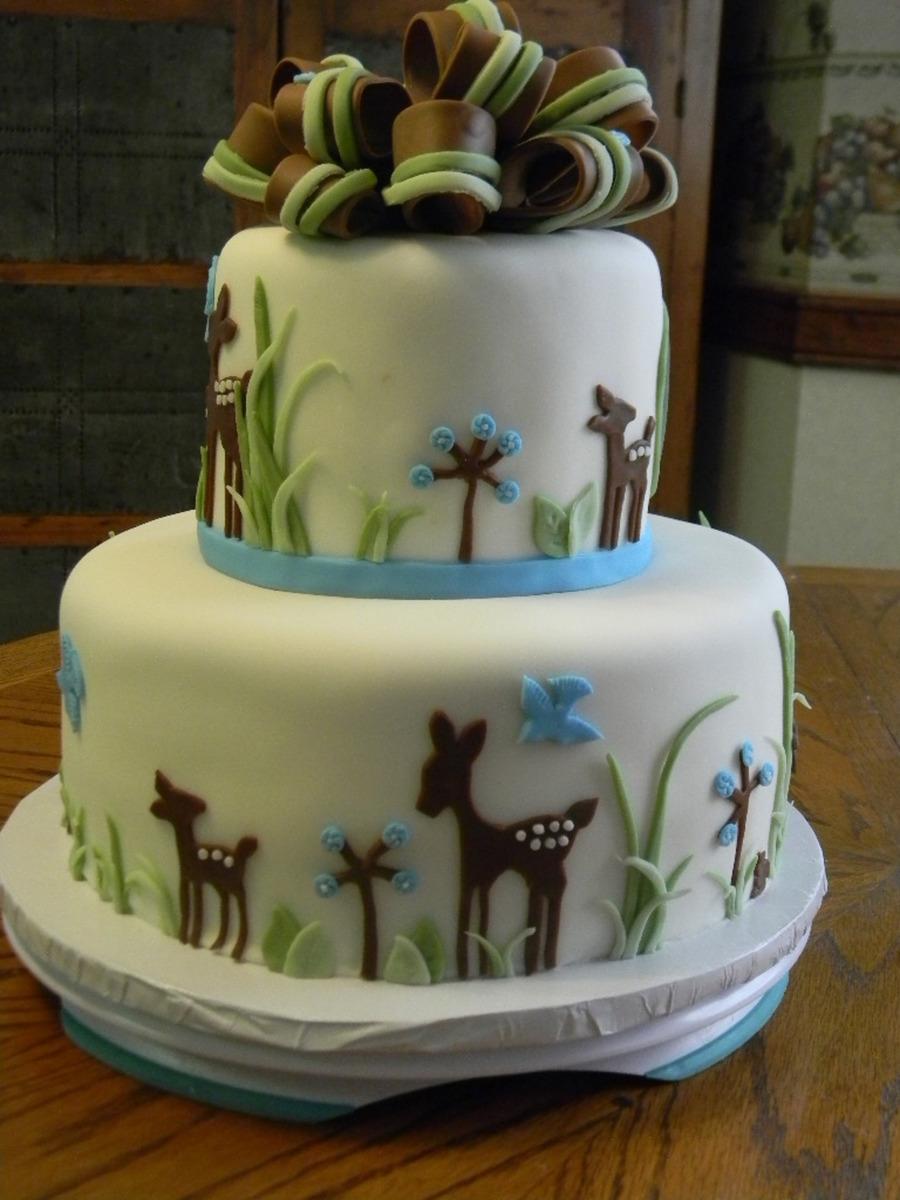 Deer Themed Baby Shower Cakes