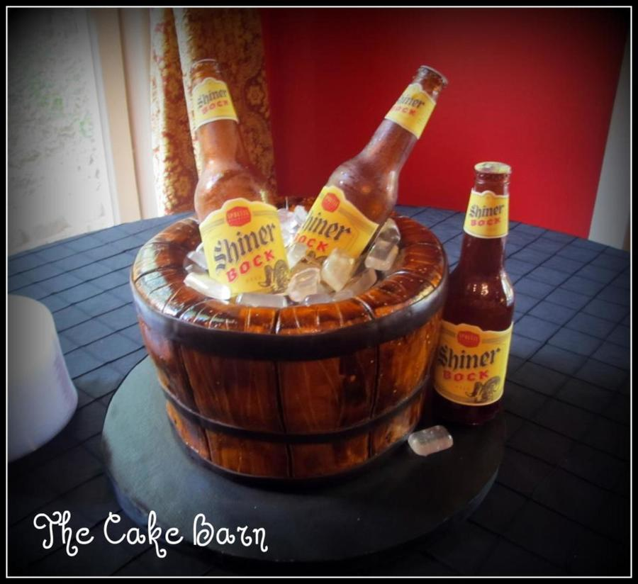 Bucket Of Shiner Beer on Cake Central