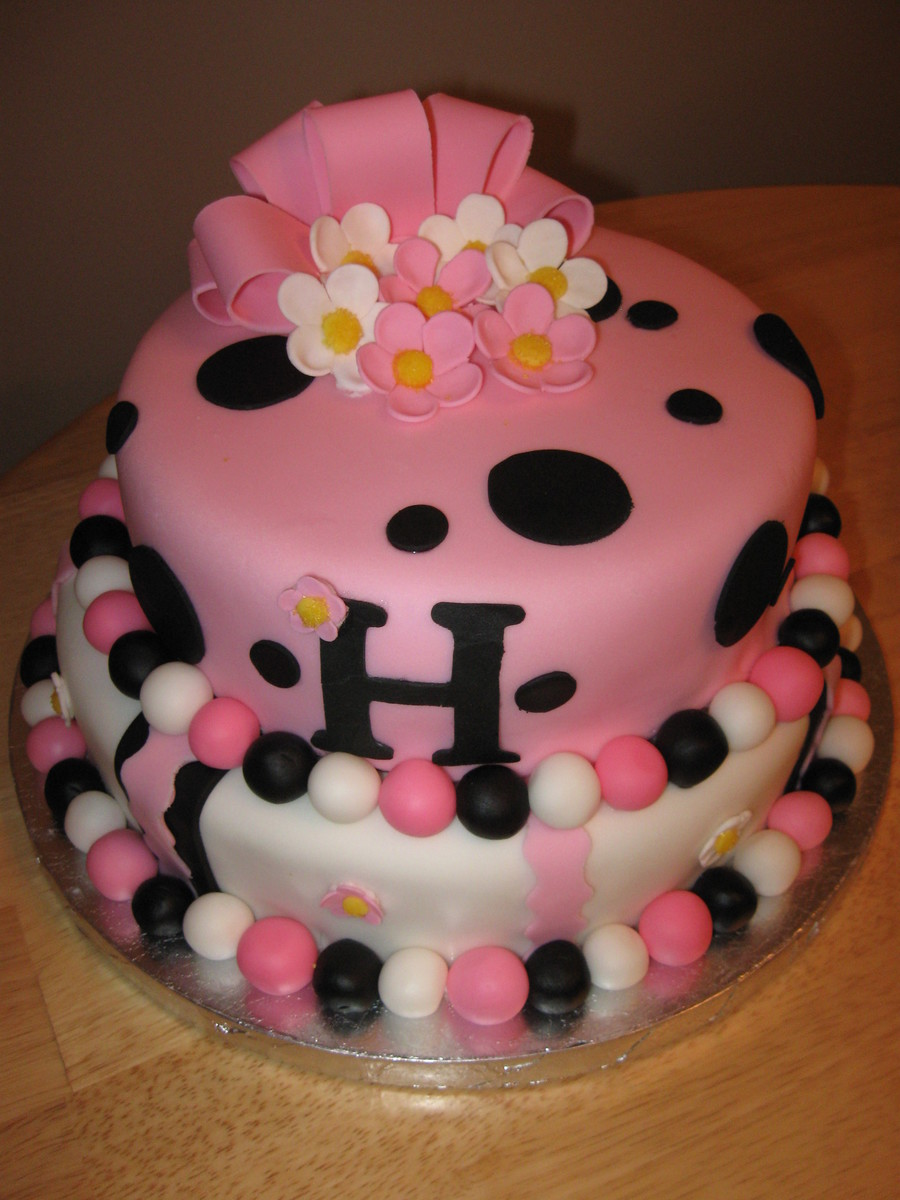 Fondant Birthday Cake on Cake Central