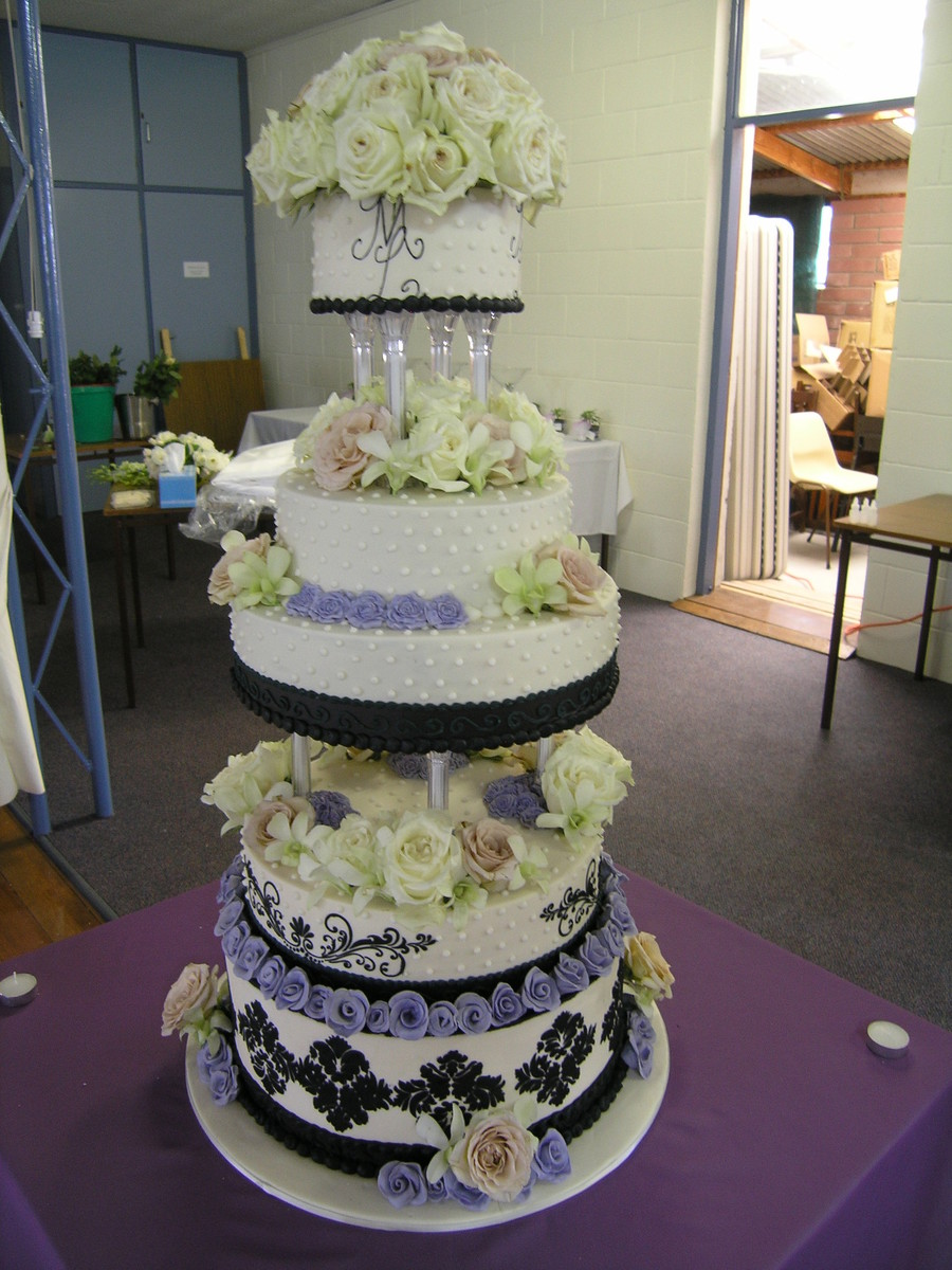 I Made This Cake For My Youngest Cousins Wedding A Few Years Back It Was A Monster And I Had To Drive It 8Hr To Its Destination I Decorat on Cake Central
