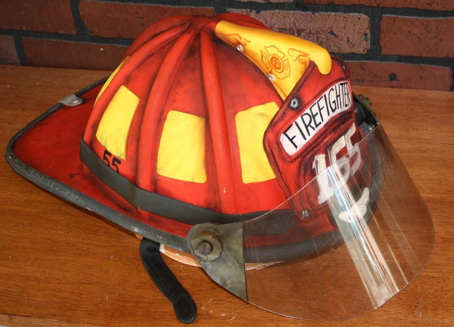 Large Firemans Helmet on Cake Central