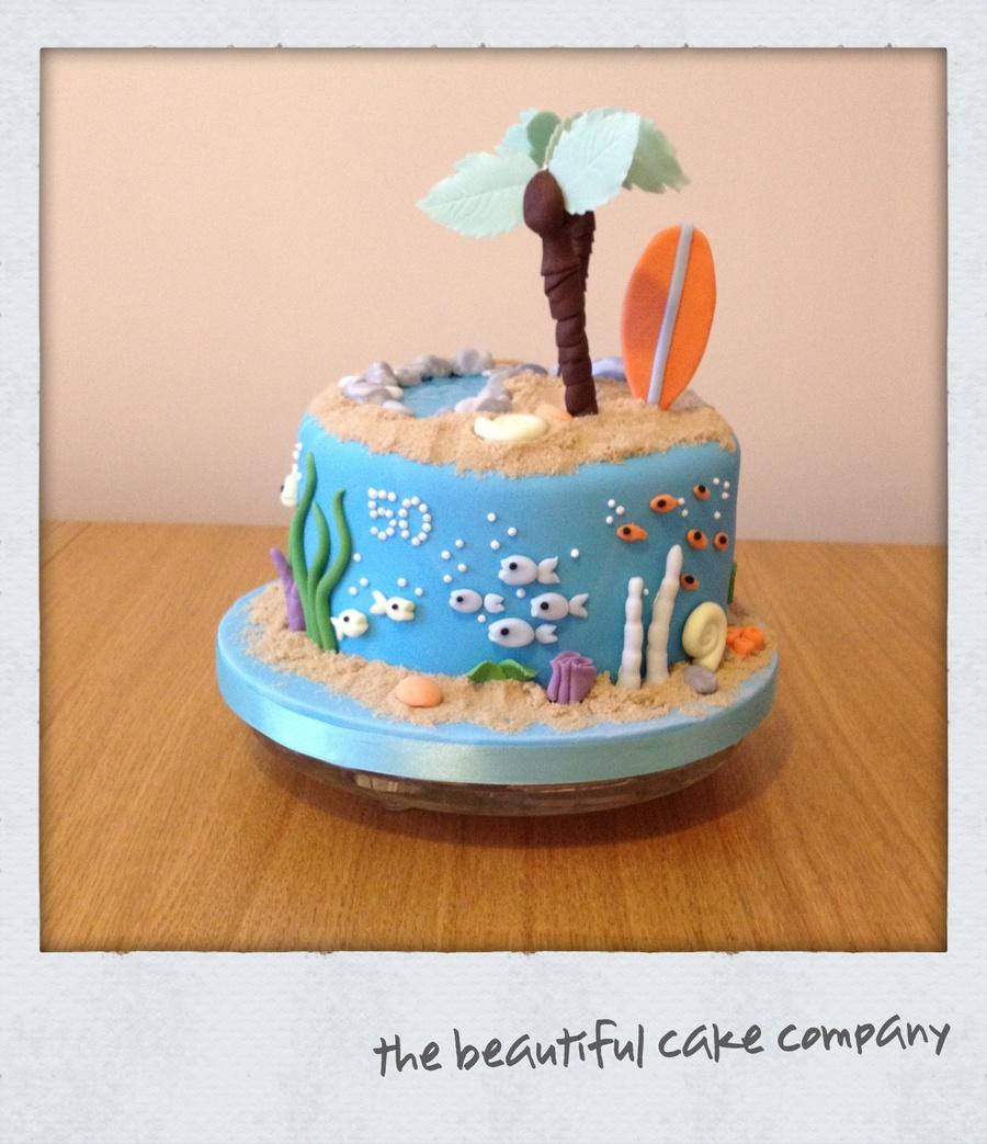 Tropical Island Theme Birthday Cake Cakecentral Com