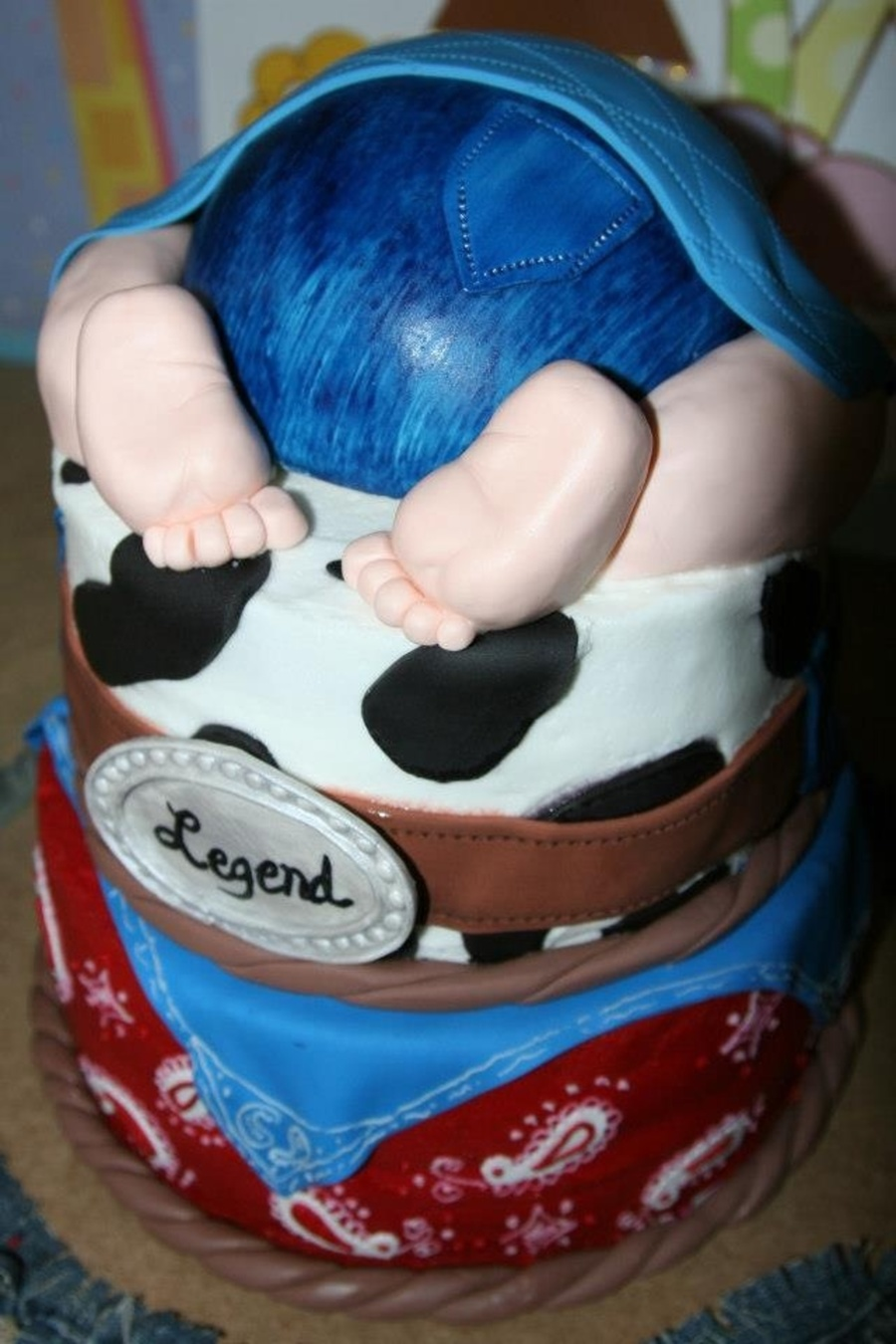 Cowboy Baby Butt Cake on Cake Central