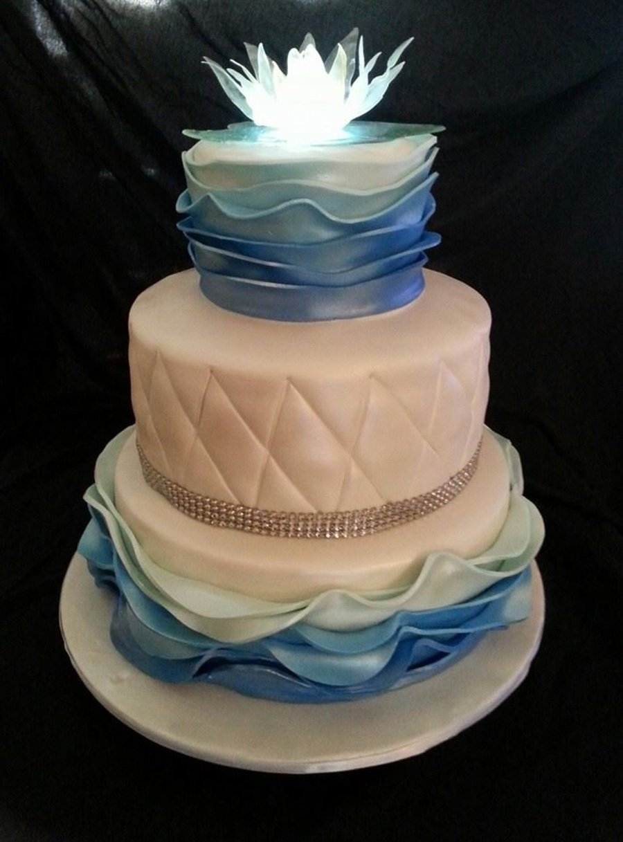 Lighted Sugar Water Lily on Cake Central