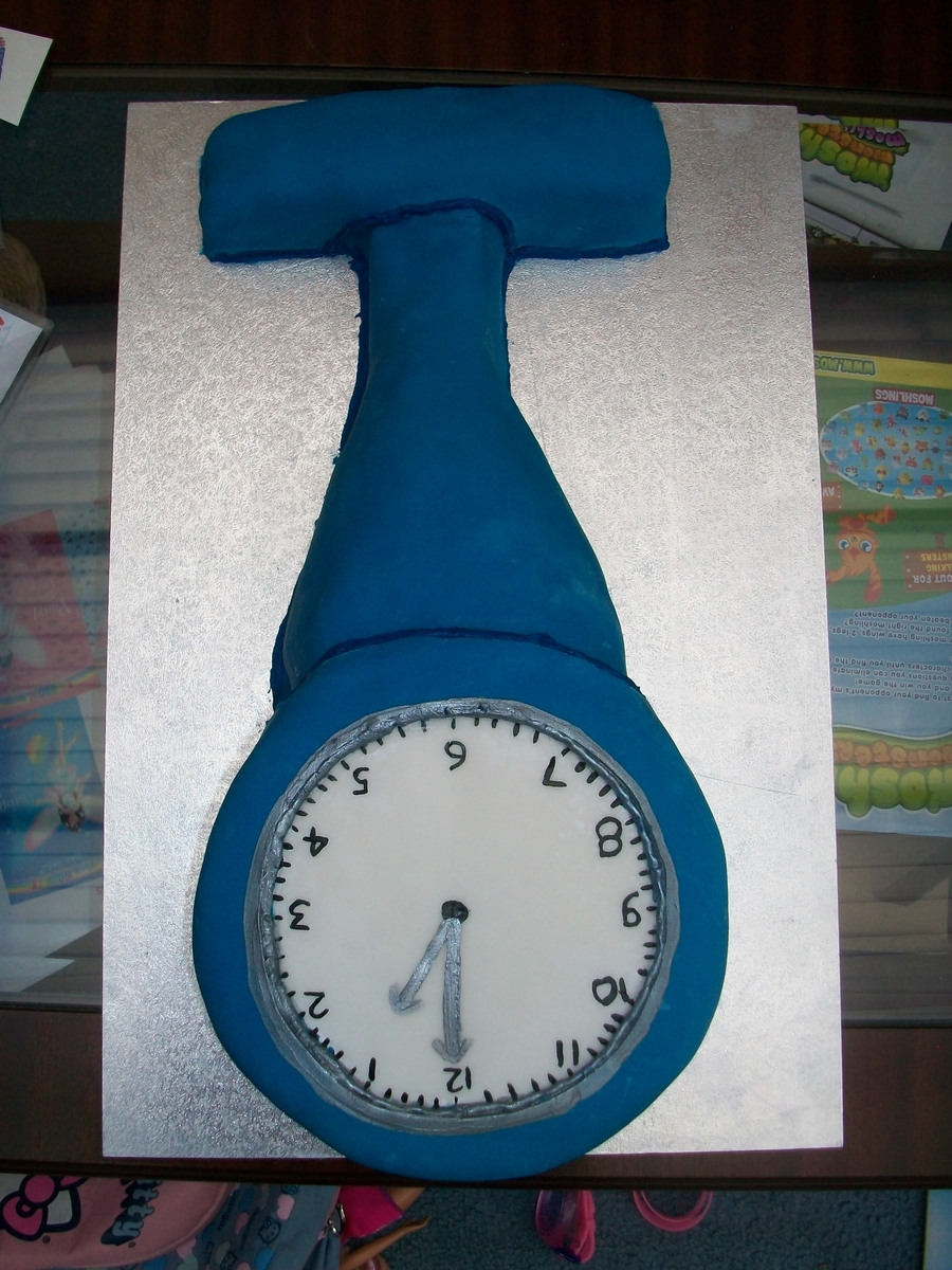 Nurse's Fob Watch on Cake Central