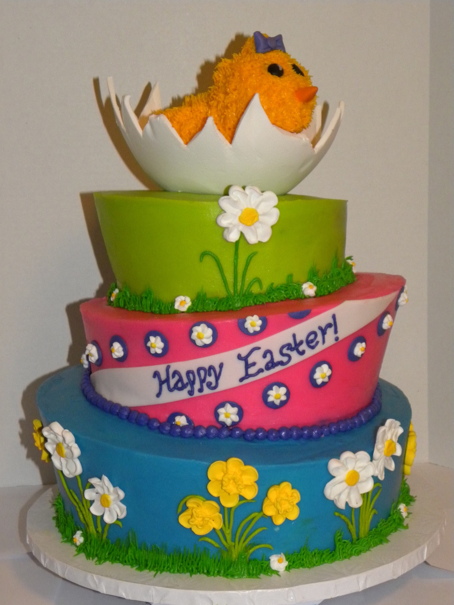 Topsy Turvy Easter Cake  on Cake Central