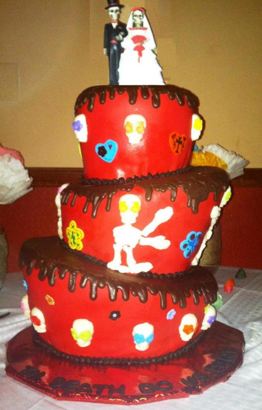 Dia De Los Muertos Wedding Cake on Cake Central