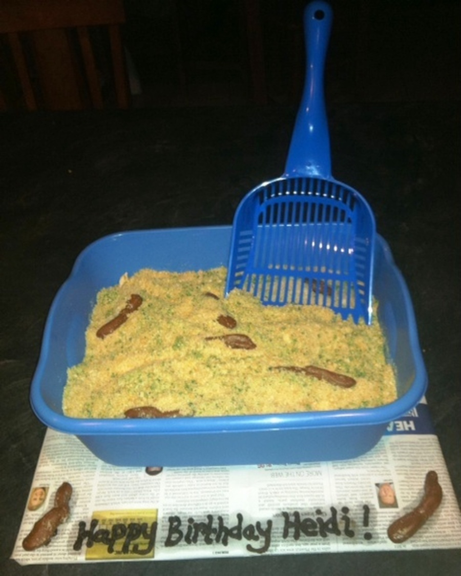 """kitty Litter"" Cake on Cake Central"