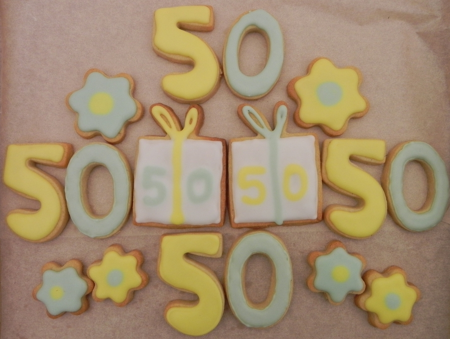 50Th Birthday Cookies on Cake Central