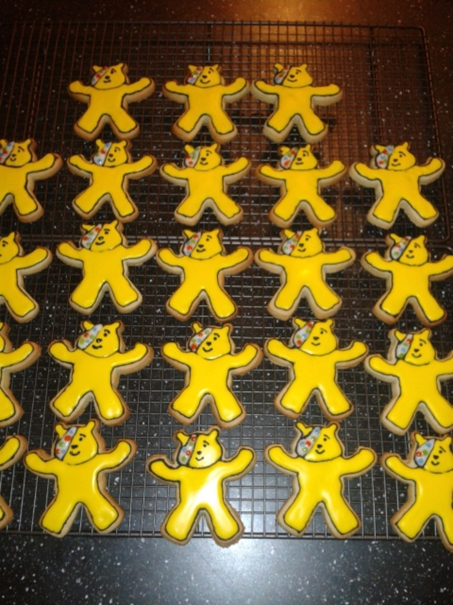 Children In Need - Pudsey Bear Cookies on Cake Central