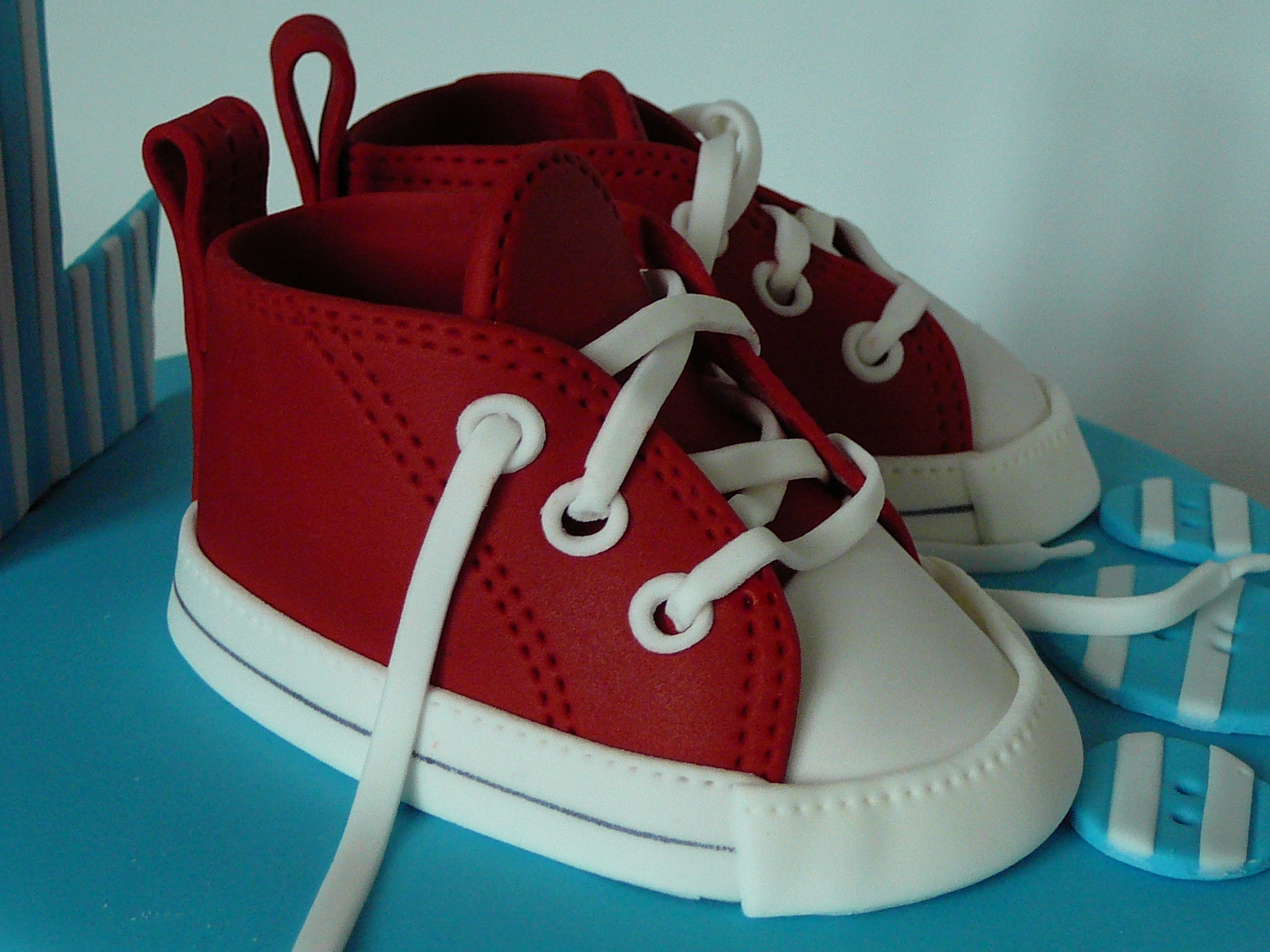 Red Converse Baby Shoes CakeCentral