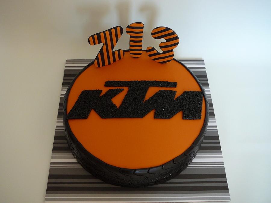 Ktm Motorcycle Wheel Cakecentral Com