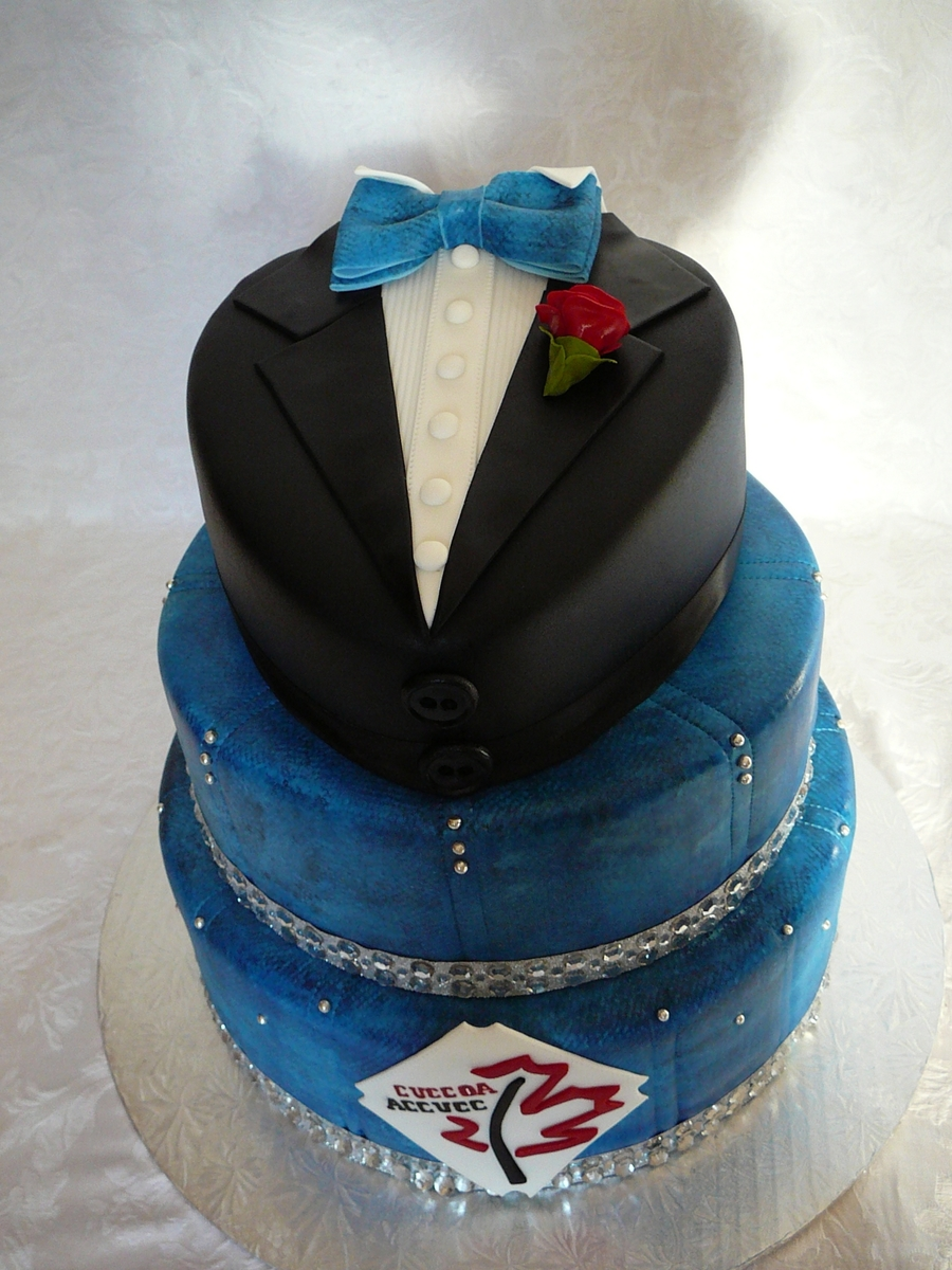 Denim And Diamond With Tuxedo Cakecentral Com