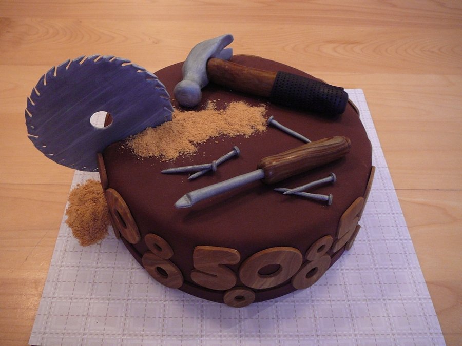 A Cake For 50 Years Old Man Who Loves To Do Woodwork This Is Very Popular Design Men It Not The First Time I Made One Like