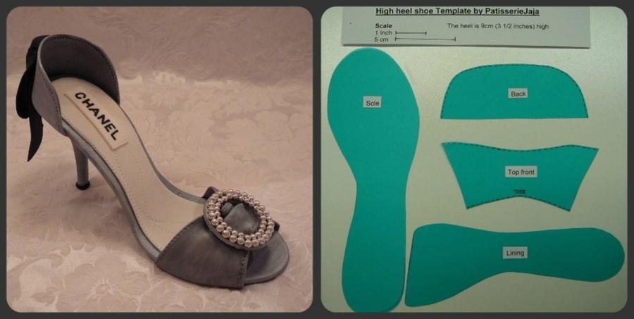 High Heel Shoe Template - CakeCentral.com
