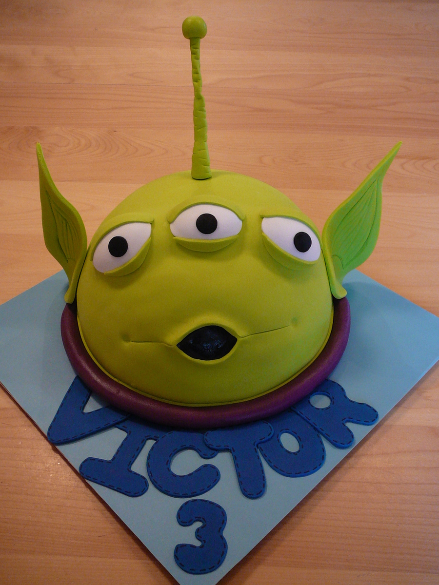 How To Make Toy Story Alien Cake