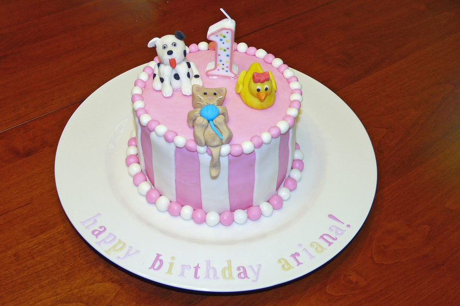 Animal First Birthday Cake Cakecentral