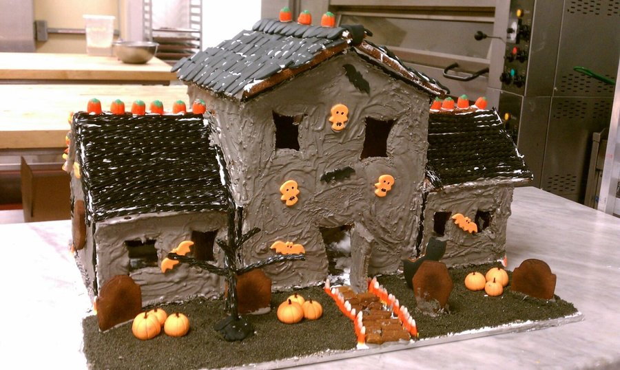 My Spooky Gingerbread Mansion on Cake Central