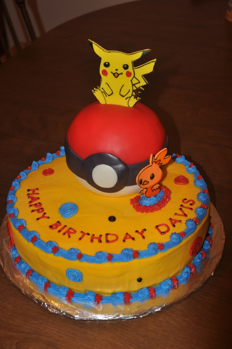Remarkable Pokemon Birthday Cake Cakecentral Com Personalised Birthday Cards Bromeletsinfo