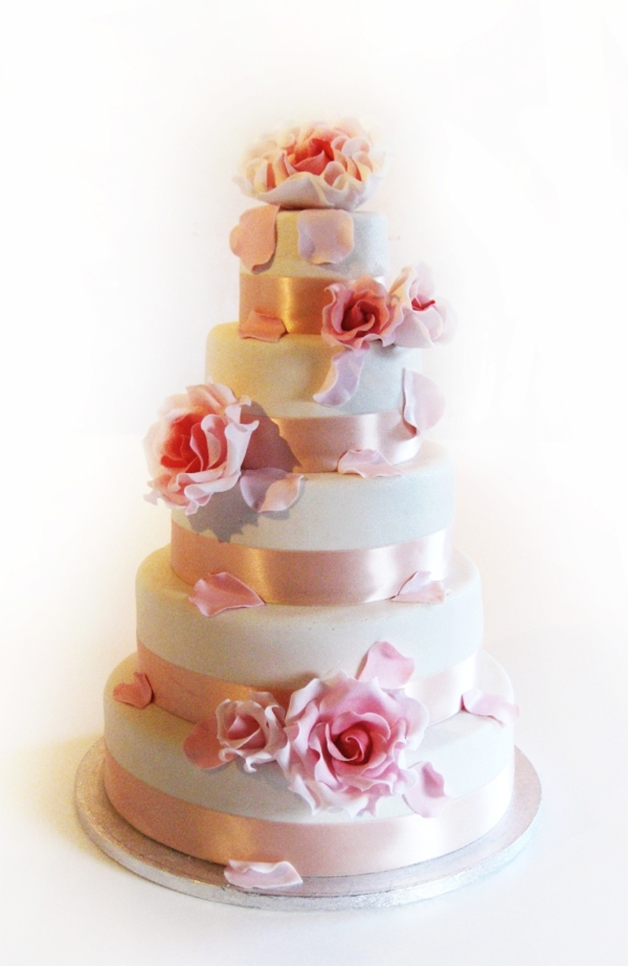 5 Tiers Of Romance on Cake Central
