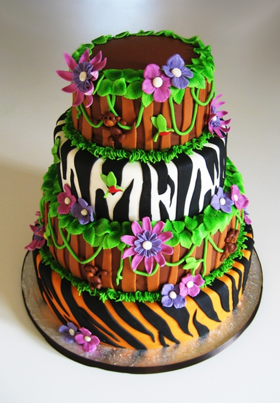 Jungle Wedding on Cake Central
