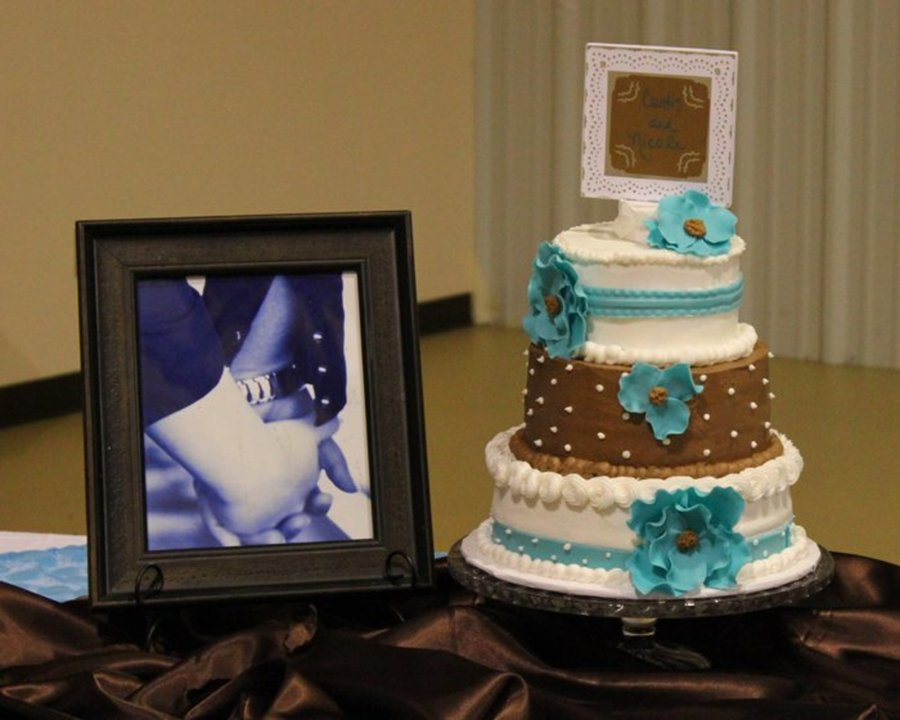 Turquoise And Brown! on Cake Central